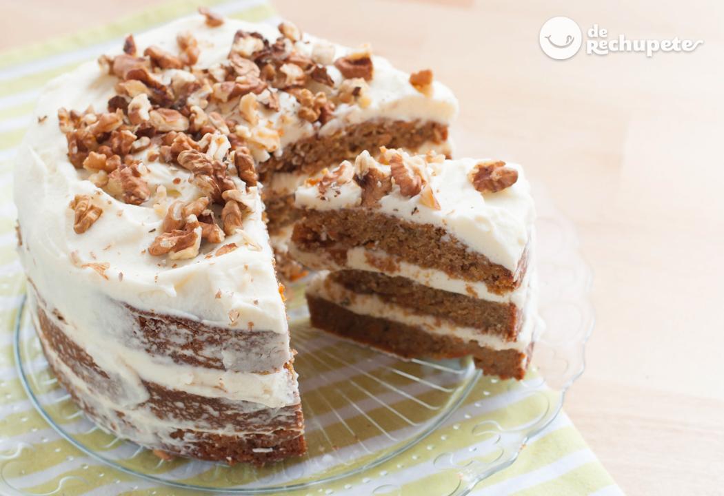Tarta De Zanahoria Carrot Cake La zanahoria se ablanda en el proceso de cocción, y la tarta suele tener una textura densa y suave. tarta de zanahoria carrot cake