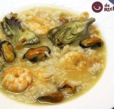 arroz marinero con alcachofas