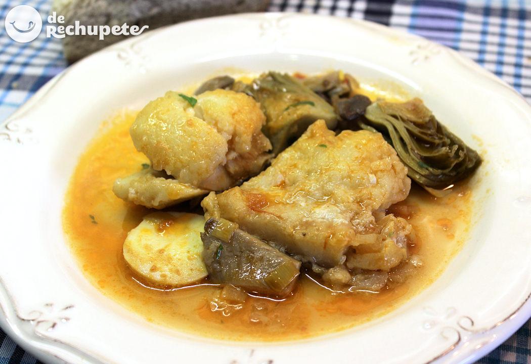 Bacalao guisado con alcachofas - Bacalao guisado con patatas ...