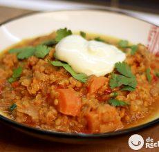 Dahl o curry de lentejas rojas