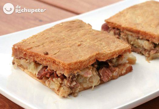 Empanada de cocido gallego en Croquetas de pulpo gallego
