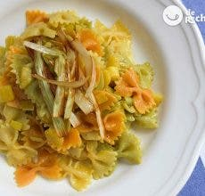 pasta con curry y manzana