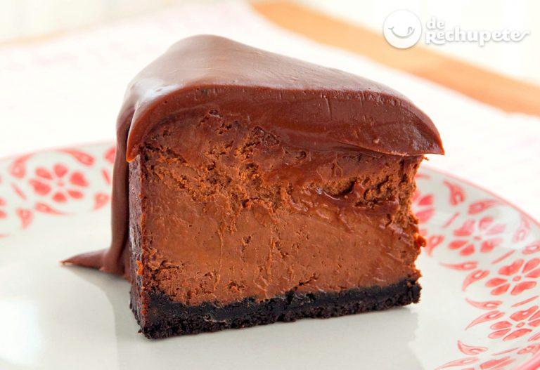 Cheesecake o tarta de queso con chocolate