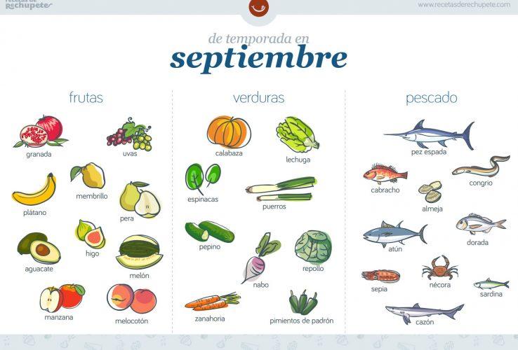 alimentos de temporada en septiembre