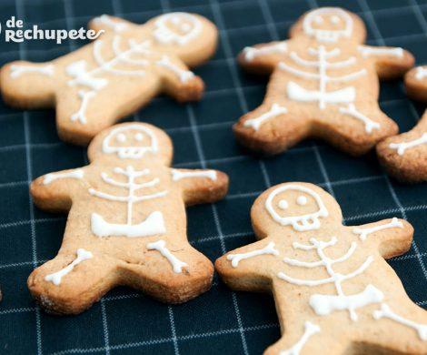Galletas de jengibre esqueletos. Halloween Gingerbread