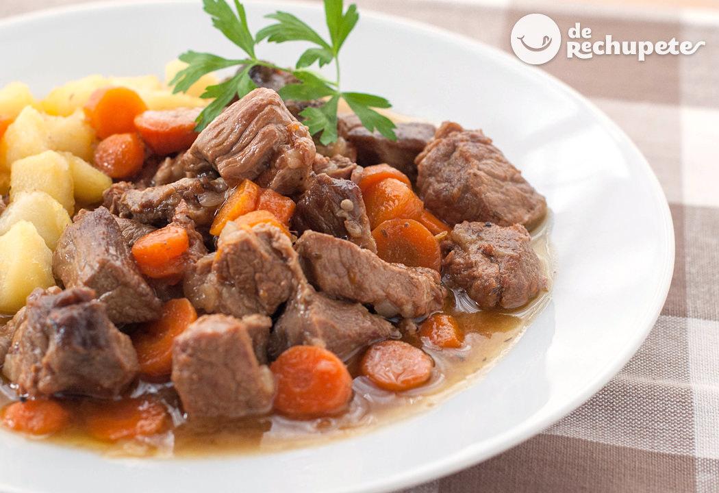 Guiso de carne ternera estofada recetas de rechupete - Guiso de carne de cerdo ...