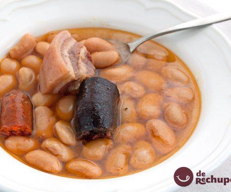 Fabada asturiana en olla express
