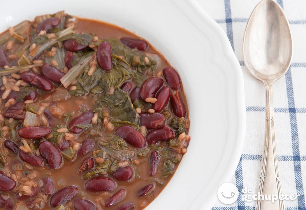 Potaje de alubias pintas con arroz recetas de rechupete - Arroz con judias pintas ...