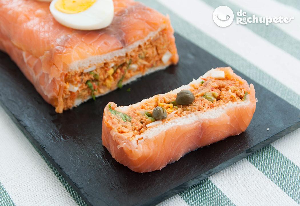 Pastel de salm n ahumado recetas de rechupete recetas - Tapas con salmon ahumado ...
