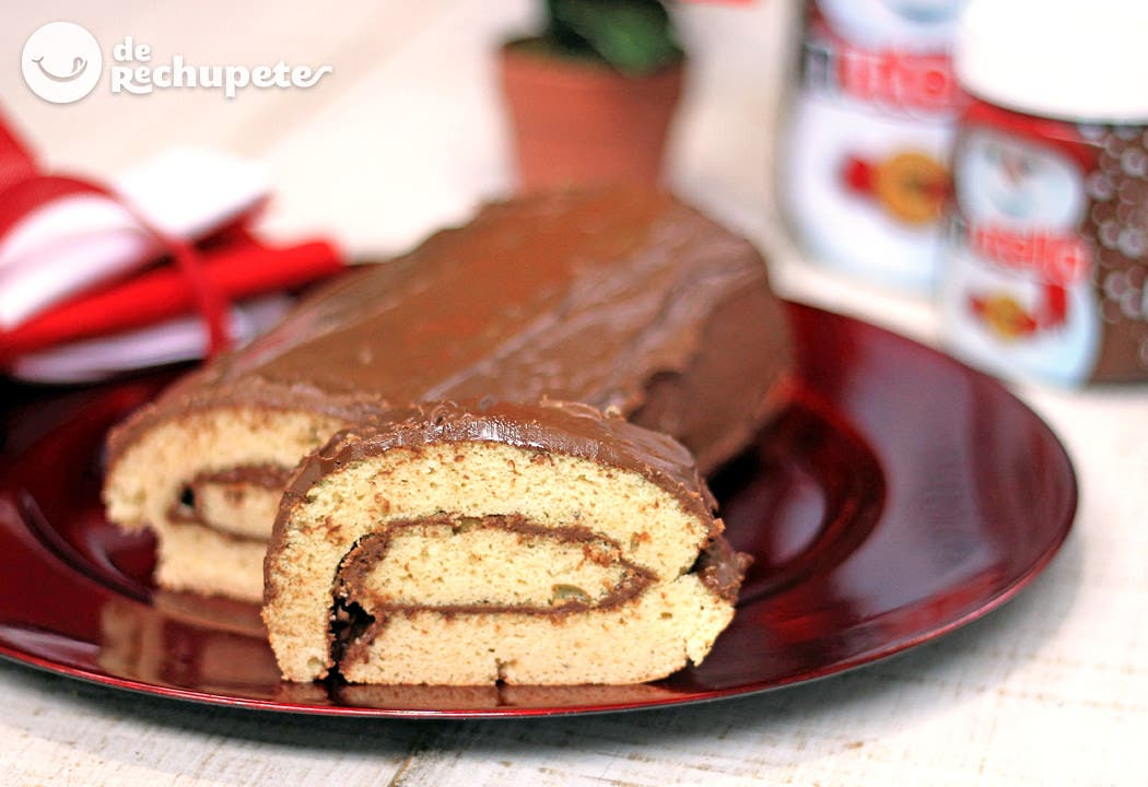 Tronco de navidad con nutella recetas de rechupete for Cocina de navidad con sara