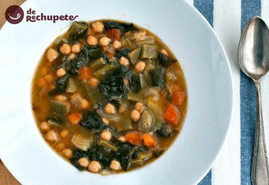 calorias de un plato de cocido de garbanzos