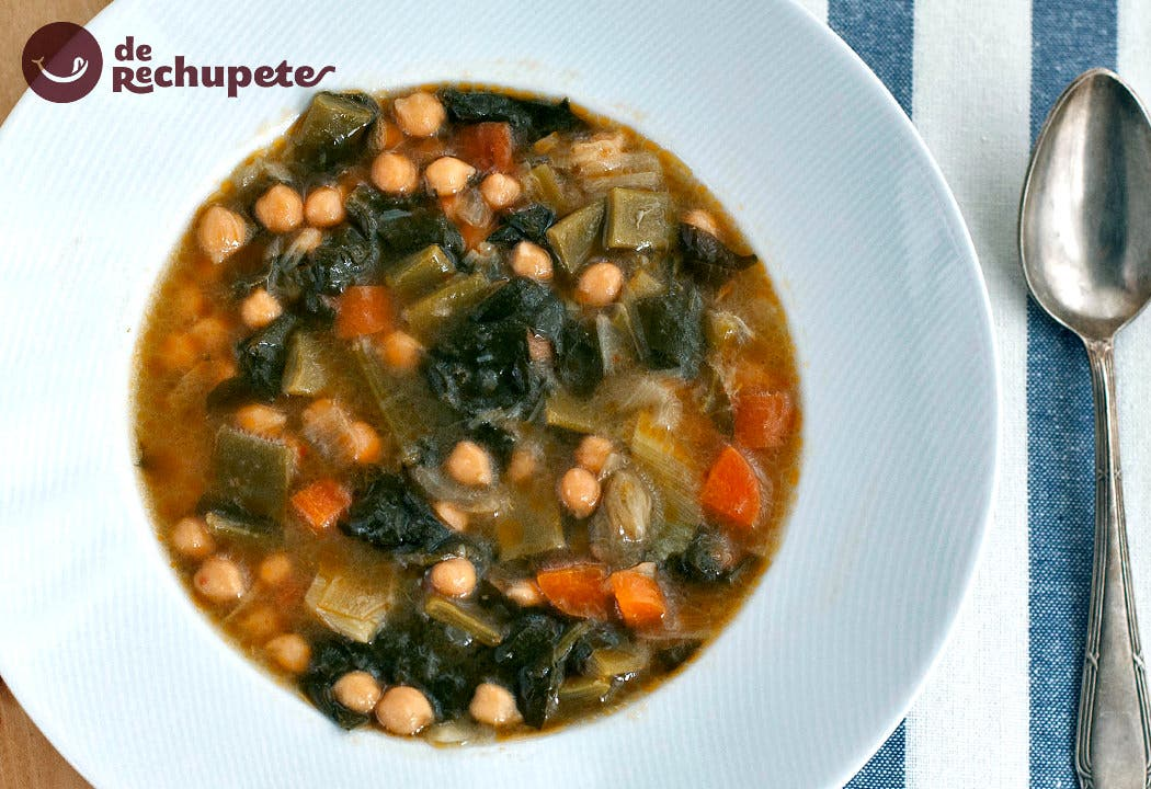 Potaje de garbanzos con verduras recetas de rechupete - Potaje de garbanzos y judias ...