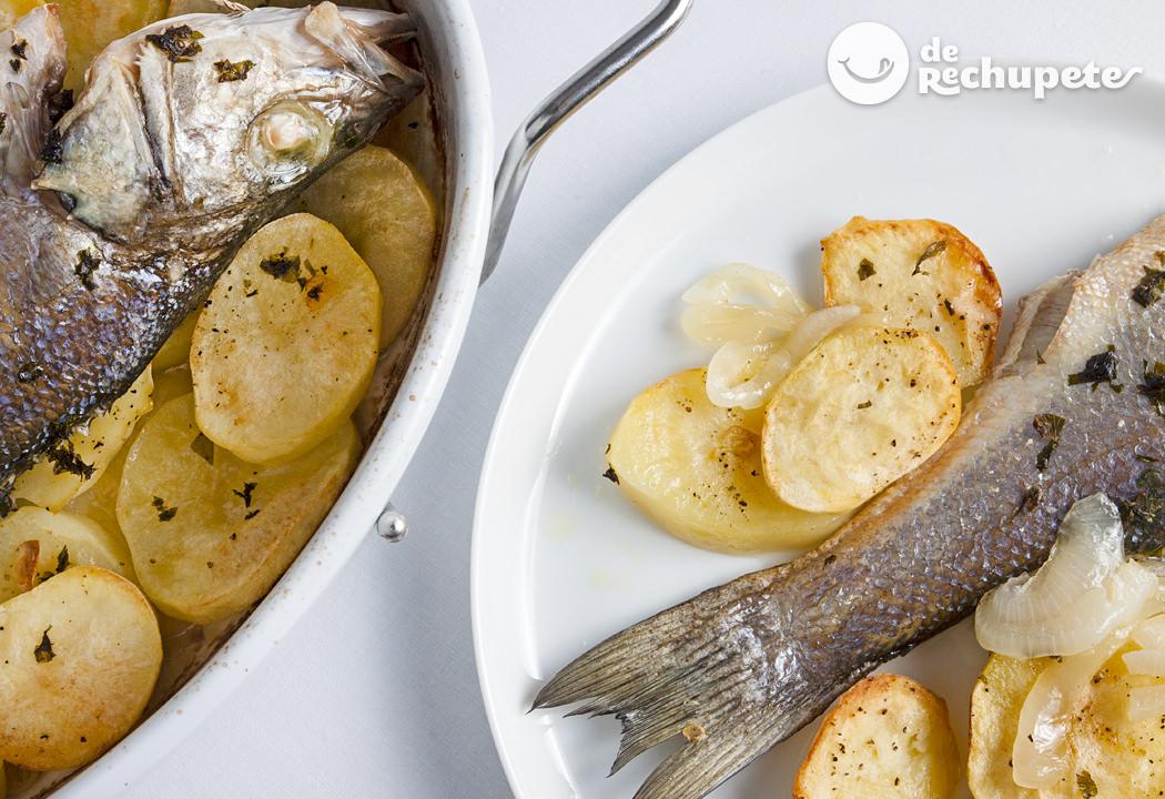 Como Cocinar Lubina | Lubina Al Horno Recetas De Rechupete Recetas De Cocina Caseras