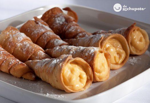 Cocina De Rechupete | Canas Fritas Rellenas De Crema Recetas De Rechupete Recetas De