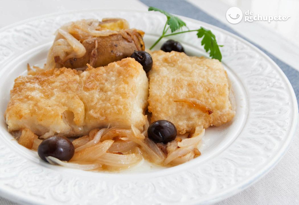 Bacalao al horno lagareiro receta portuguesa recetas de for Como cocinar bacalao al horno