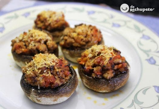 Recetas De Cocina Con Champiñones | Champinones Rellenos De Carne Recetas De Rechupete Recetas De