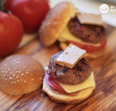 Mini hamburguesas de foie