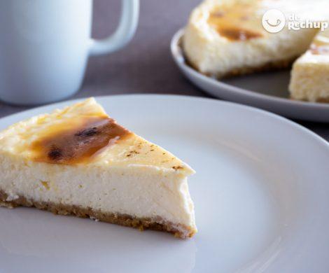 Cheesecake o Tarta de queso con crema tostada