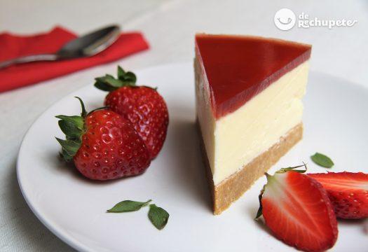 Sin tarta de queso gelatina fria