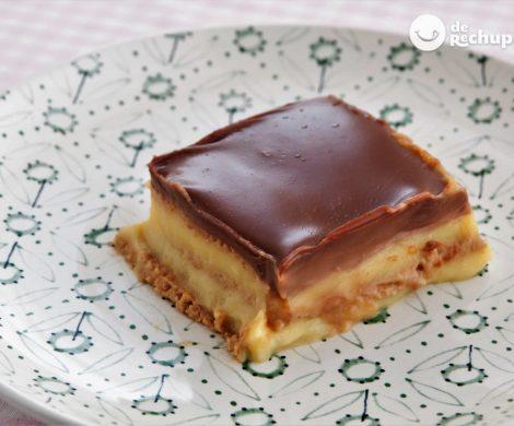 Cómo hacer tarta de galletas o de la abuela. Receta fácil y sin horno