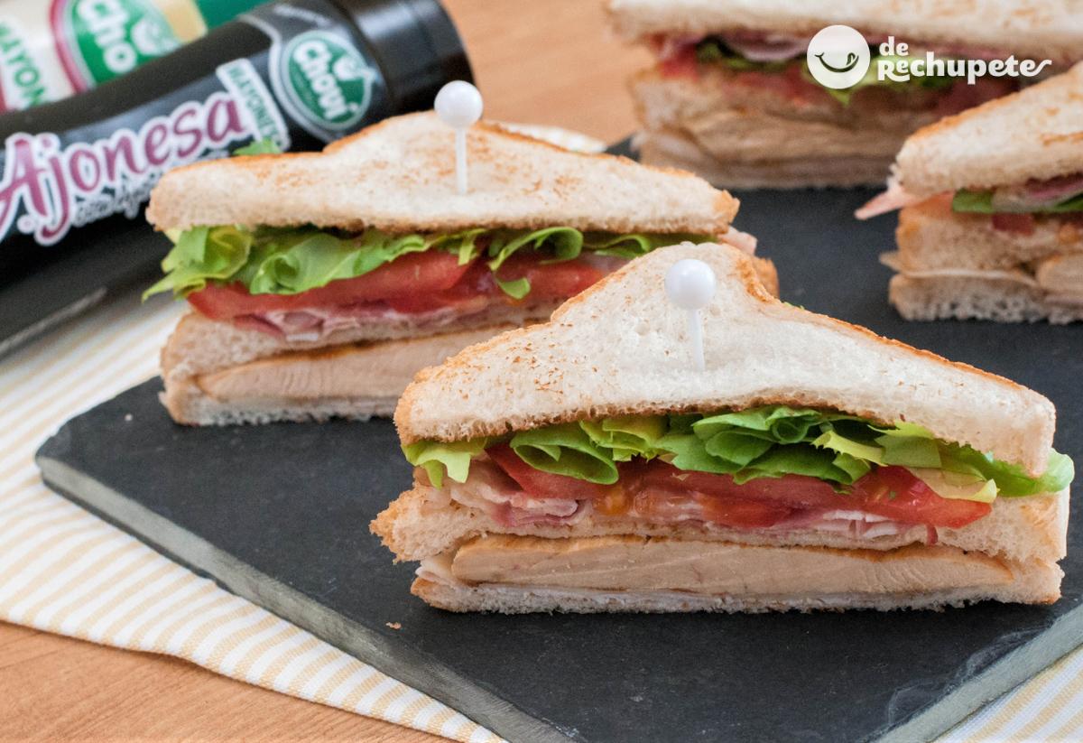 Sandwich Club Receta Facil Paso A Paso
