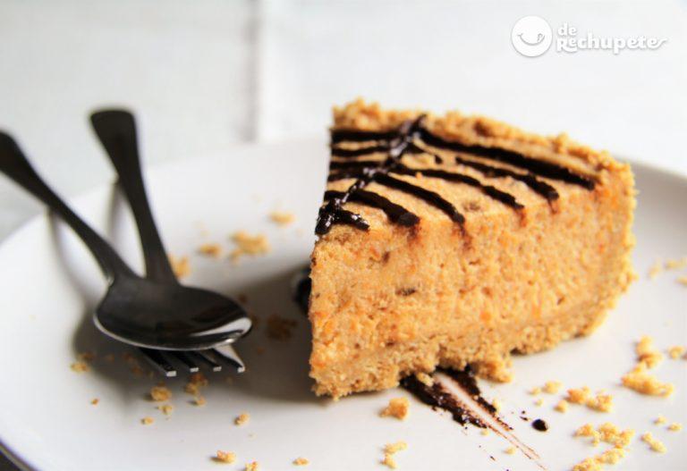 Cheesecake de boniato. Halloween