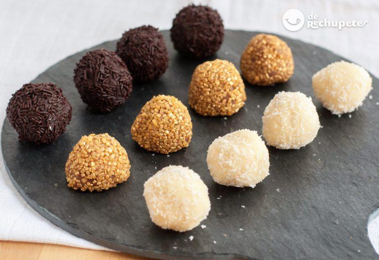 Cómo hacer trufas de chocolate
