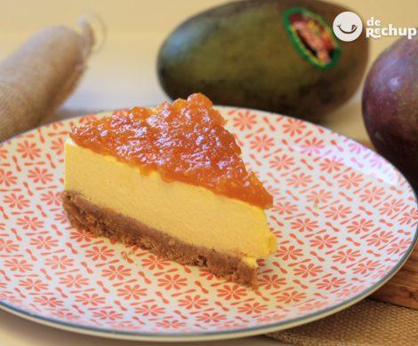 Tarta de mango fácil y sin horno