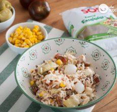 Ensalada de arroz con atún. Receta fácil y fresquita