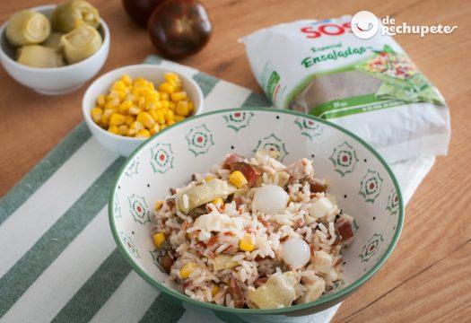 Ensalada de arroz fácil y fresquita