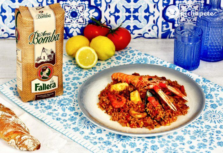 Paella de marisco. Receta tradicional paso a paso