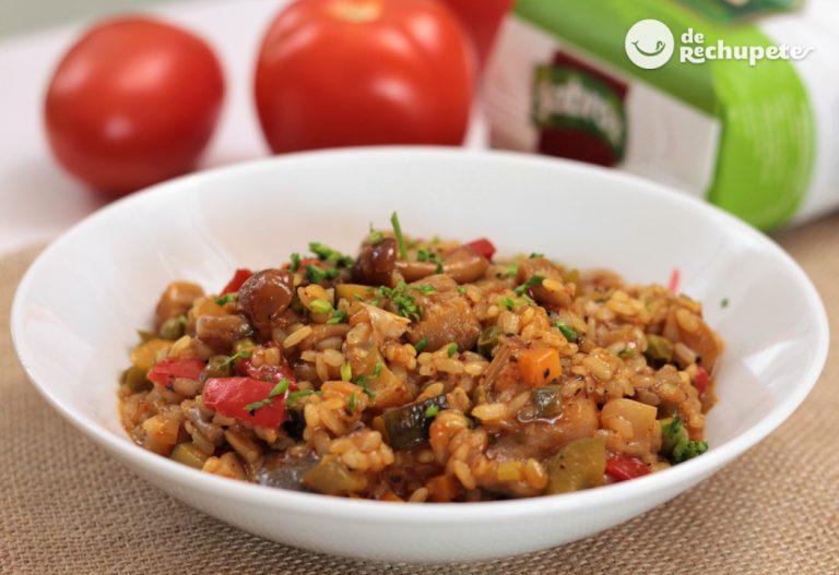 Arroz con verduras y setas