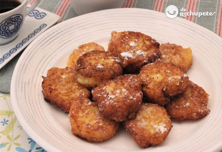 Buñuelos dulces fritos