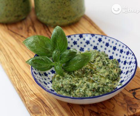 Pesto con nueces. Salsa italiana muy fácil y barata