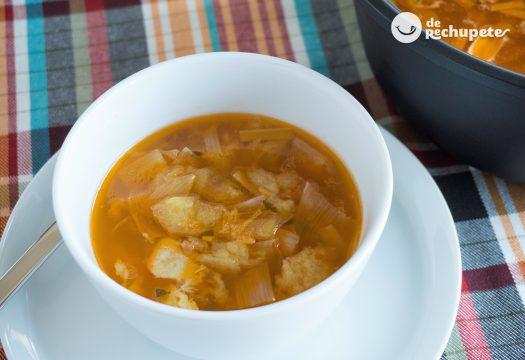 Sopa de pescado a lo pobre