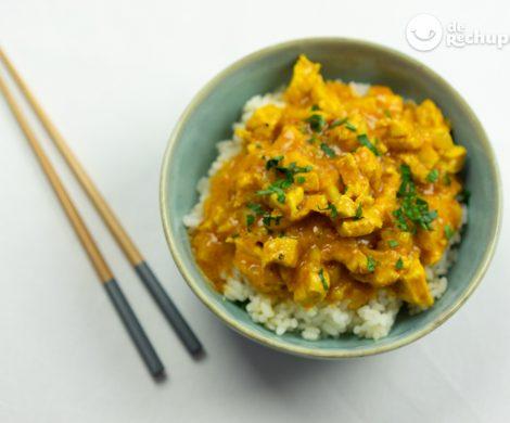 Pollo al curry express. Curry rápido