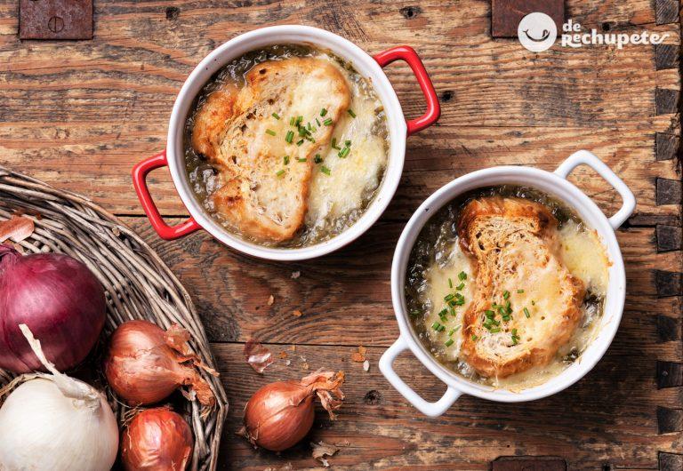Sopa de cebolla. Receta tradicional francesa