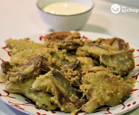 Setas en tempura