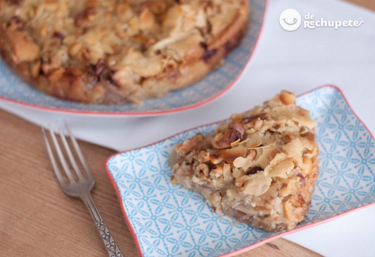 Tarta sueca de manzana y frutos secos