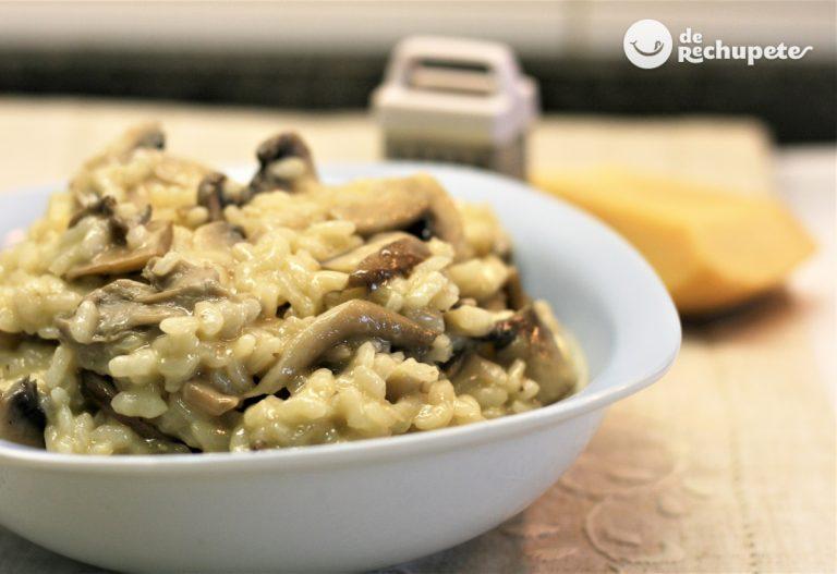 Cómo hacer arroz con champiñones