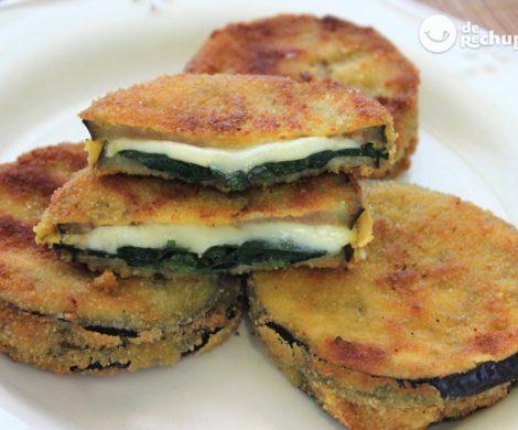 Berenjenas rellenas de jamón y queso