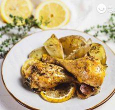 Muslos de pollo al horno al limón