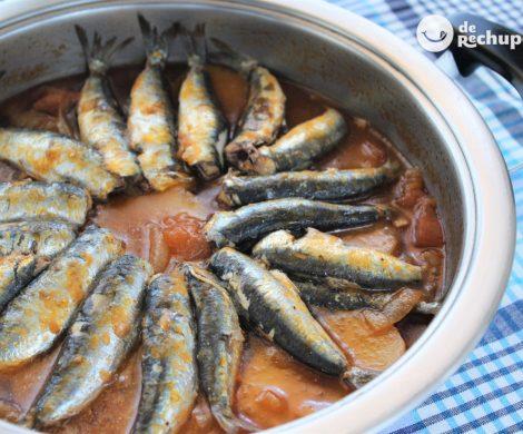 Guiso marinero de sardinas o xoubas