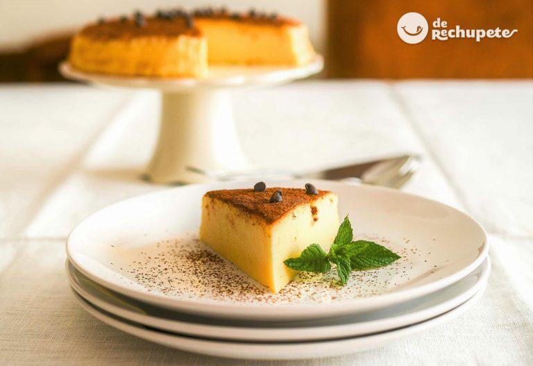 Tarta japonesa de queso con chocolate