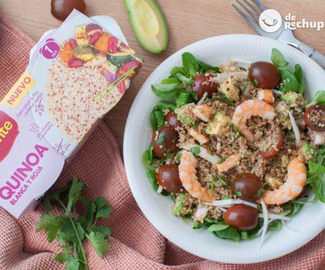 Ensalada de quinoa con gambas