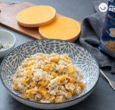 Risotto de calabaza y queso azul. Arroz de otoño