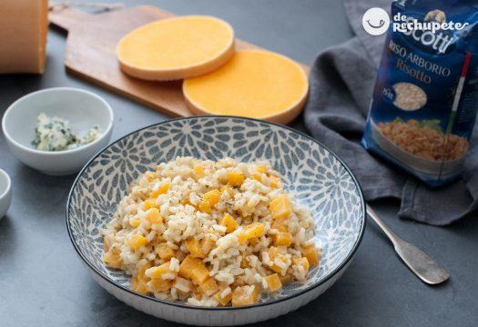 Risotto de calabaza y queso azul