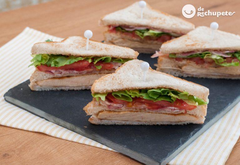 Cómo hacer un Sándwich Club. Receta fácil del nuestro sándwich preferido