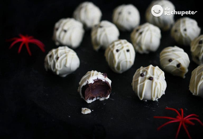 Trufas de chocolate momia