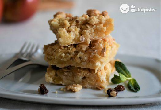 Pasteles de manzana estilo crumble